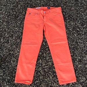 Orange AG Cropped Cigarette Jeans